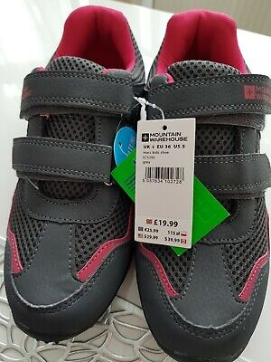 Brand New Mountain Warehouse Mars Kids Trainer-Grey/Pink - Size 4
