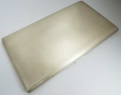 SUPERB VERY LARGE HEAVY 237g ENGLISH ANTIQUE 1957 STERLING SILVER CIGARETTE CASE