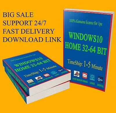 Activation code of windows 10 Home, genuine license key and links down, fastship