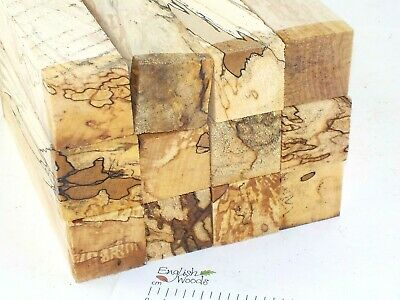12 Punky English Spalted Beech woodturning or carving blanks. 40x40x205mm. 4033A