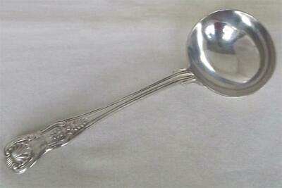 A Large & Heavy Solid Silver Victorian Kings Pattern Sauce Ladle London 1859.