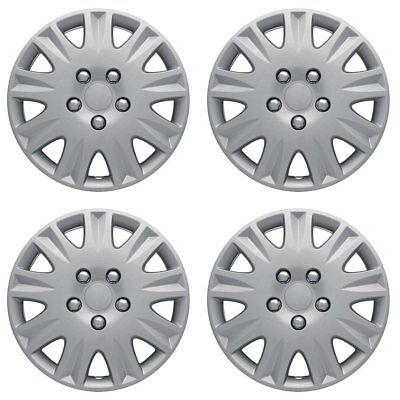 Hubcaps fits 87-88 Nissan 200Sx - 15 Inch Silver Replacement Wheel Cover Rim
