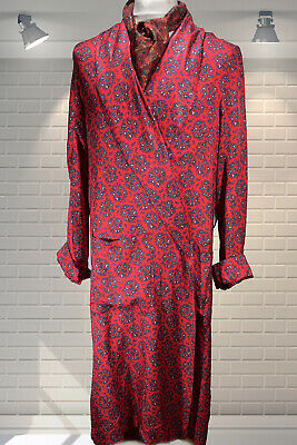 Wounded Vintage 1940s Gents Dandy Smoking Jacket Dressing Gown Robe XL""