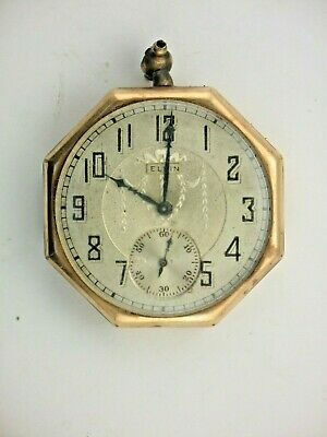 VINTAGE - Elgin, GOLD FILLED POCKET WATCH 7J , SELLING AS IS  FOR PARTS/REPAIRS