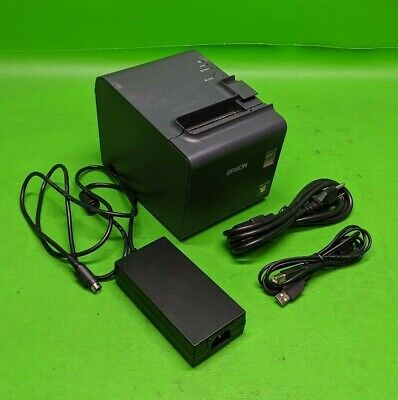 Epson TM-L90 POS Thermal Receipt Printer M313A w/ Power Adapter USB Cable