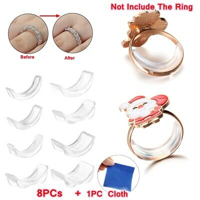 Jewelry Tighteners Adjuster Pad Reducer Ring Size Adjuster Set Resizing Tools
