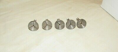 Set of 5 Watchmakers lathe collets stepped collet watch lathe tools