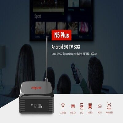 Android 9.0 Smart TV Box 4G 64G 2.4GHz / 5GHz Wifi 8K HD Reproductor de video