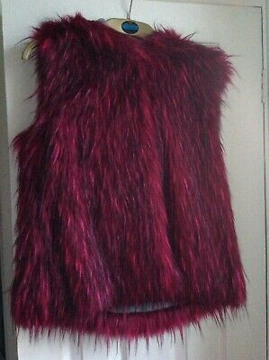 Funky Girls Faux Fur Hooded Gillet From NEXT Age 16
