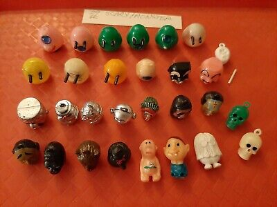 Vintage Gumball/Vending Scary/Monster/Skulls Charms/Figures/Pencil Toppers