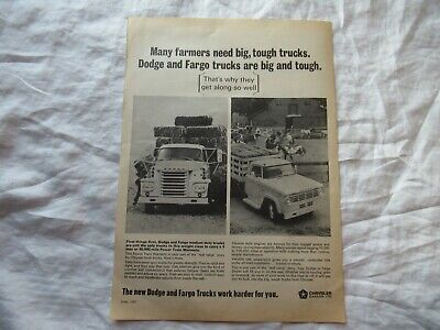 1967 Fargo and Dodge truck advertising print AD