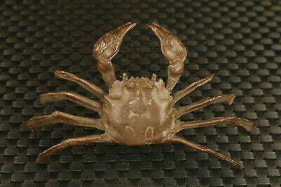 Big old Chinese bronze hand casting crab statue collectable decoration gift