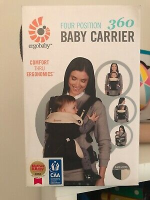 ergo 360 baby carrier brand new black and beige. Still in unopened box