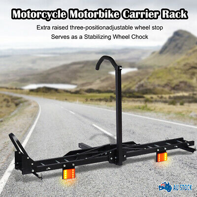 "New Motorcycle Motorbike Carrier Rack 2"" Steel Towbar Arm Rack Dirt Bike Ramp AU"