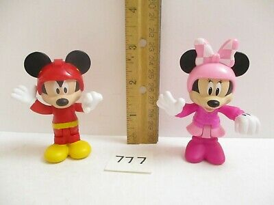 Mickey & Minnie Mouse Roadster Racers Lot of 2 Sit Stand Figures