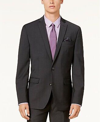 Bar III Men's Slim-Fit Sport Coat Suit Jacket Blazer Dark Grey 38R NEW $425