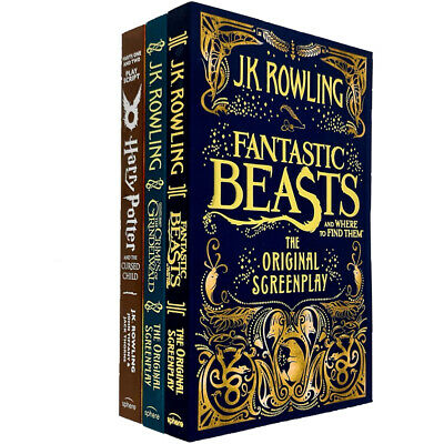 J.K. Rowling 3 Books COllection Set(Harry Potter,Fantastic Beasts,Where to Find