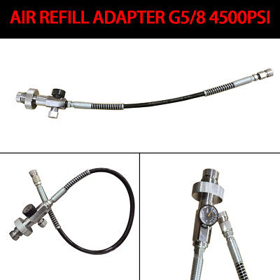 Paintball PCP Fill Station Ladekit 4500psi Air Refill Adapter 60 cm Schlauch DHL