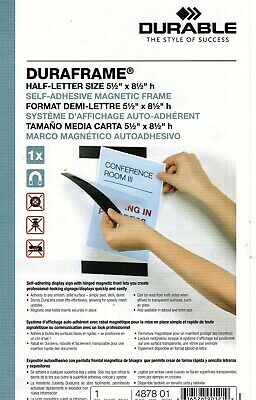 10-Pack Box of DURAFRAME 5-1/2 x 8-1/2 Inches Self-Adhesive Magnetic Sign Holder