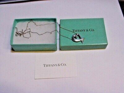 Tiffany & Co. Paloma Picasso Sterling Silver Large Loving Heart Pendant Necklace