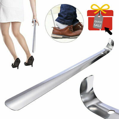 Durable 52cm Shoe Horn Stainless Steel Shoehorn Silver Extra Long Handle Lifter