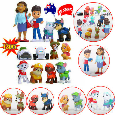 12x Paw Patrol Dog Puppy Rescue Figure Action Toys Figurine Character Gifts Set