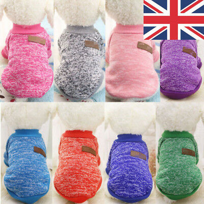 UK Knited Pet Puppy Cat Jumper Dog Coat Hoodie Clothes Apparel Costume Small