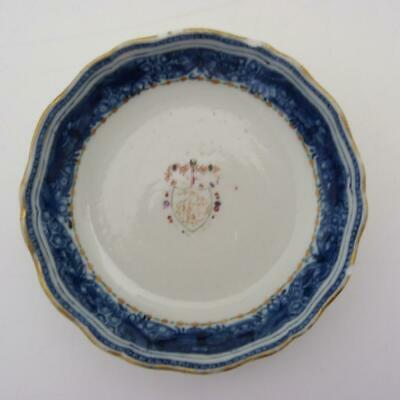 Chinese Export Porcelain Armorial Saucer, 18Th Century