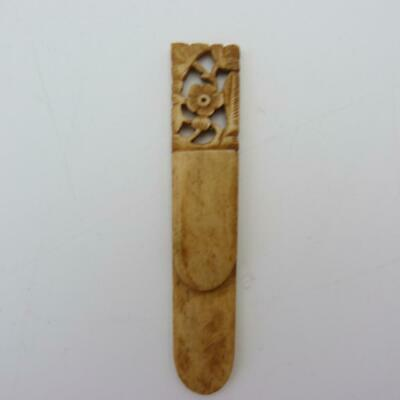 Antique Chinese Canton Carved Page Marker Bookmark