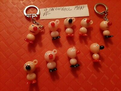 Vintage Gumball/Vending/Dime Store Snowball Men Charms Lot Of 9