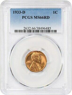 1933-D 1c PCGS MS66 RD - Lincoln Cent