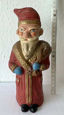 German  early 1900   Santa Claus Dresden paper mache  figure 9 inches