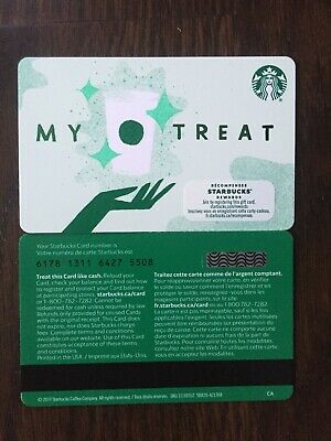 "Canada Series Starbucks ""MY TREAT 2020"" Gift Card WITH BLACK MAG STRIPE"