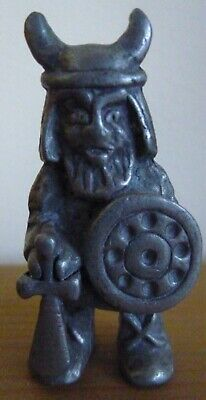 Miniature Tin / Pewter Viking Figure Sweden Tenn