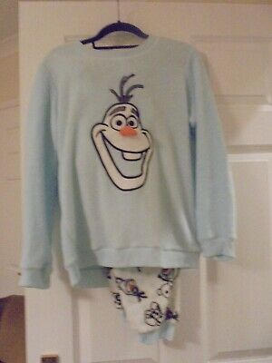 Disney Ladies / girls Fleece Pyjamas Disney Frozen Olaf Size S 6-8