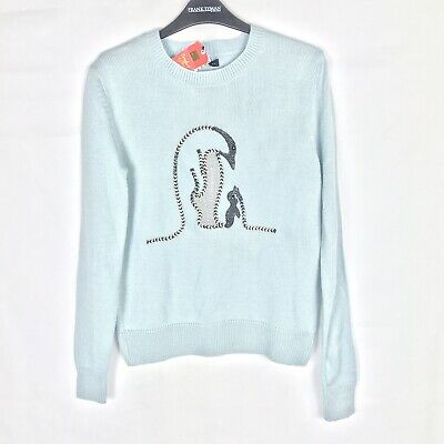 MARKS & SPENCER Collection Size S Novelty Pale Blue Women's Jumper BNWT