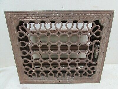 Antique Cast Iron Floor Register Heat Air Flow Vent Grate Architectural Salvage