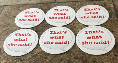 THE OFFICE Trivia Game Replacement Parts That's What She Said Six 6 Round Cards