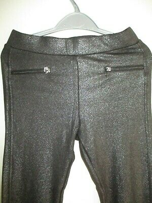 H&M Black/Grey Girls Sparkle Stretch Trousers/Leggings.age 11-12 Years.