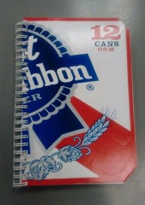 "Pabst Blue Ribbon Beer Wire Bound Journal / Blank Book / Sketch Pad (8x5"") PBR"
