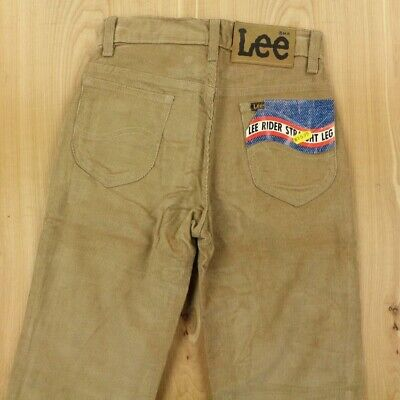 DEADSTOCK vtg usa made LEE RIDERS corduroy pants 25 x 32 nwt straight talon