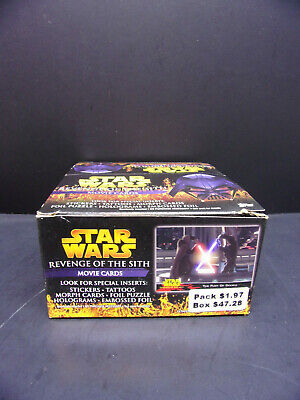 Star Wars Revenge of the Sith Box of Movie Cards Unopened