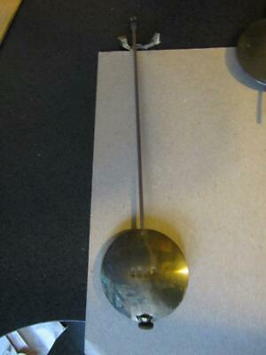 "Clock Brass Pendulum With Weight Stamped 1202 2.5"" Bob  9"" Long Weight 6 oz / 16"