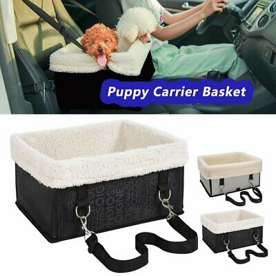 Pet Dog Cat Car Seat Safety Puppy Carrier Basket Travel Gear Booster Bag Gray Y2