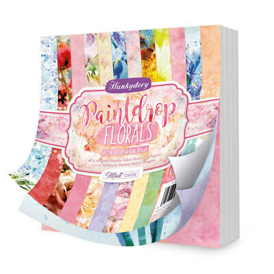 """Hunkydory Paintdrop Florals 6"""" Paper Pad  6""""x6"""", 48pg"""