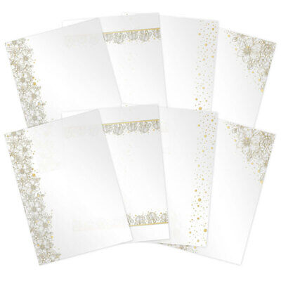 Hunkydory Paintdrop Florals Foiled Acetate  A4, 220micron, 8pk