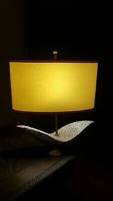 Amazing 60s-70s Mid-century Modern lamp With Brass And More----MUST LOOK!