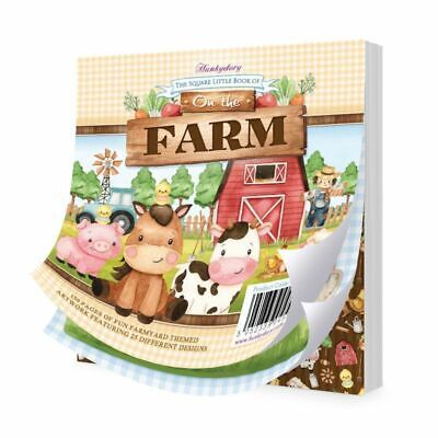 """Hunkydory The Square Little Book of On the Farm  5""""x5"""", 150pg"""