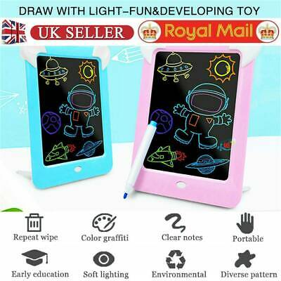 3D Magic Drawing Pad LED Light Glow Art Writing Puzzle Board Toy Gifts for Kid