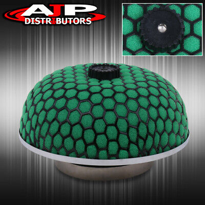 "3"" Green W/ Black Mesh Mushroom Performance Filter For Cold Air/Short Ram Intake"